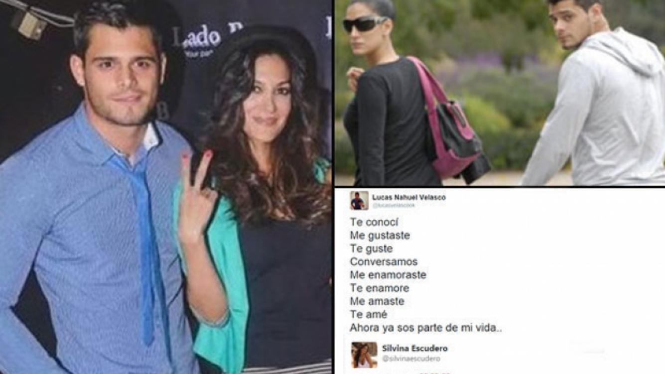Silvina Escudero y Lucas Velasco, romance blanqueado. (Foto: Web y Twitter)
