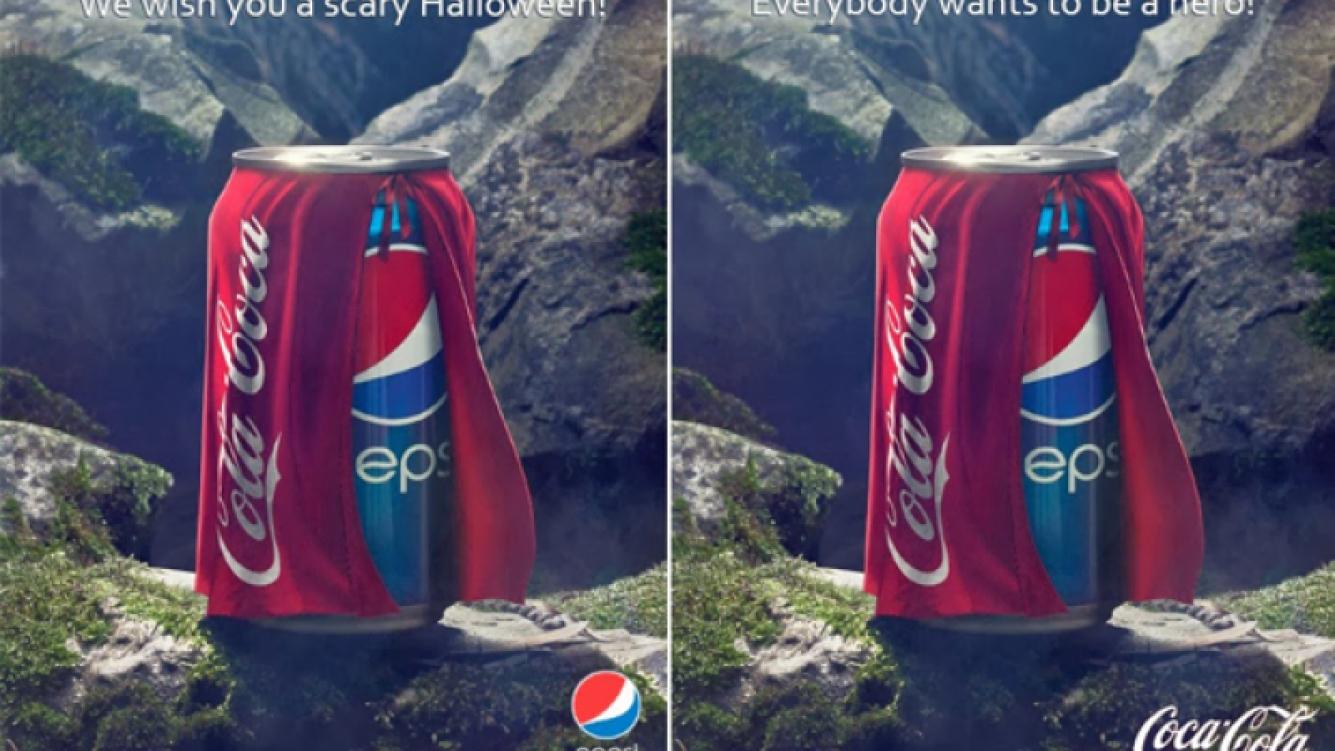 El aviso de Pepsi y la venganza de Coca-Cola. (Imagen: web)