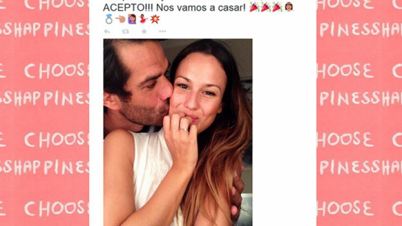 Luli Fernández y Cristian Cúneo Libarona se casan (Fotos: Twitter).