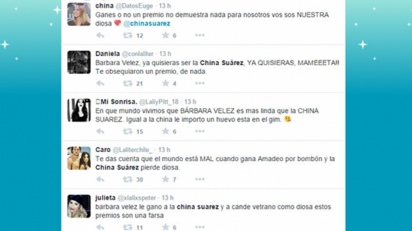 La catarata de tweets contra Barbie Vélez (Foto: Captura).