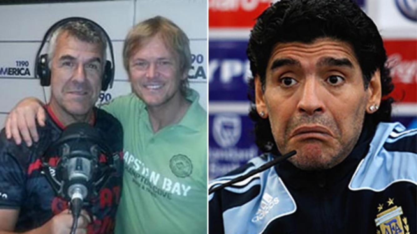 Dady Brieva provocador con Diego Maradona en su cumple. (Fotos: Twitter y Web)