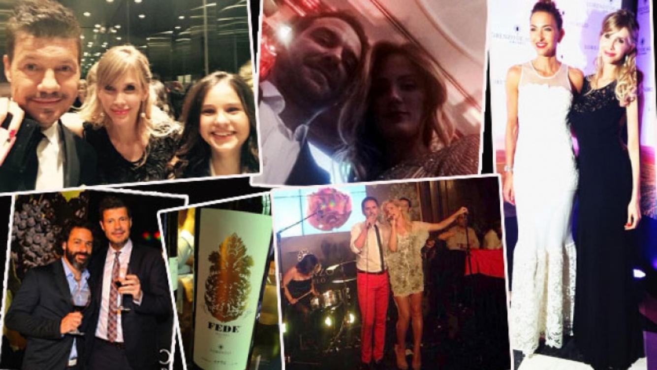 La emotiva presentación del vino en homenaje a Fede Ribero. (Foto: Twitter)