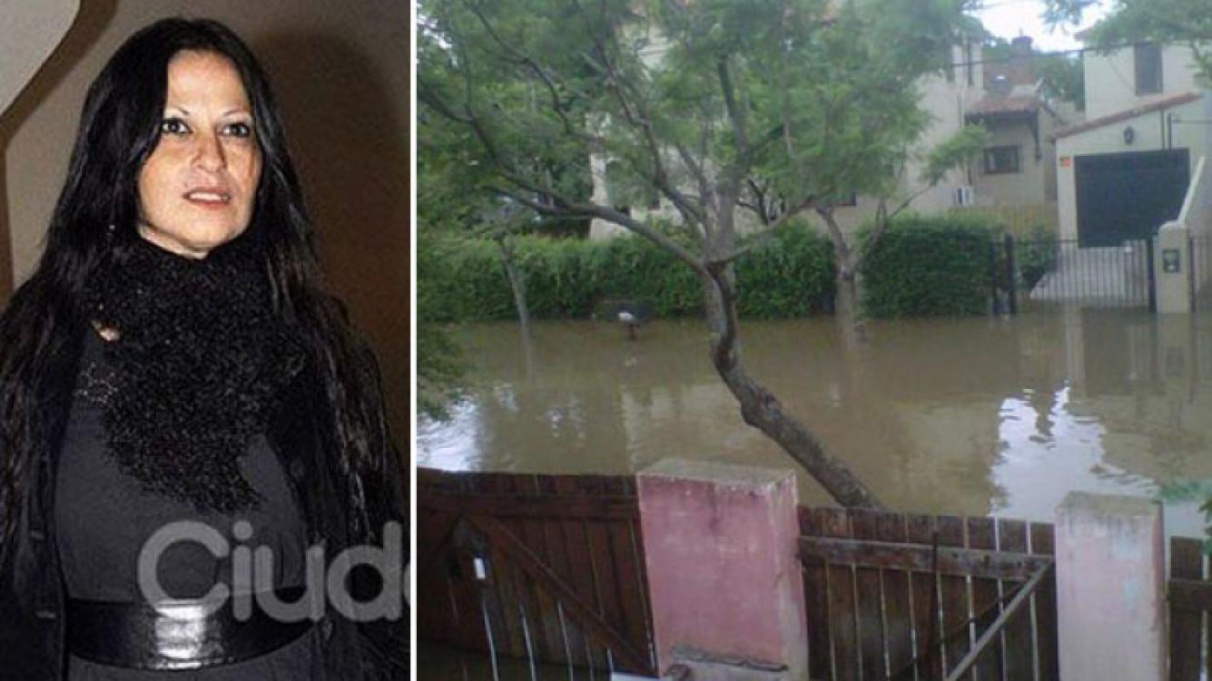 Carinara y el drama de la inundación. (Foto: Twitter)