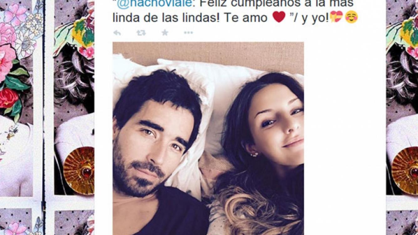 Nacho Viale y un mensaje súper tierno para el cumple de Candelaria Tinelli (Fotos: Captura).