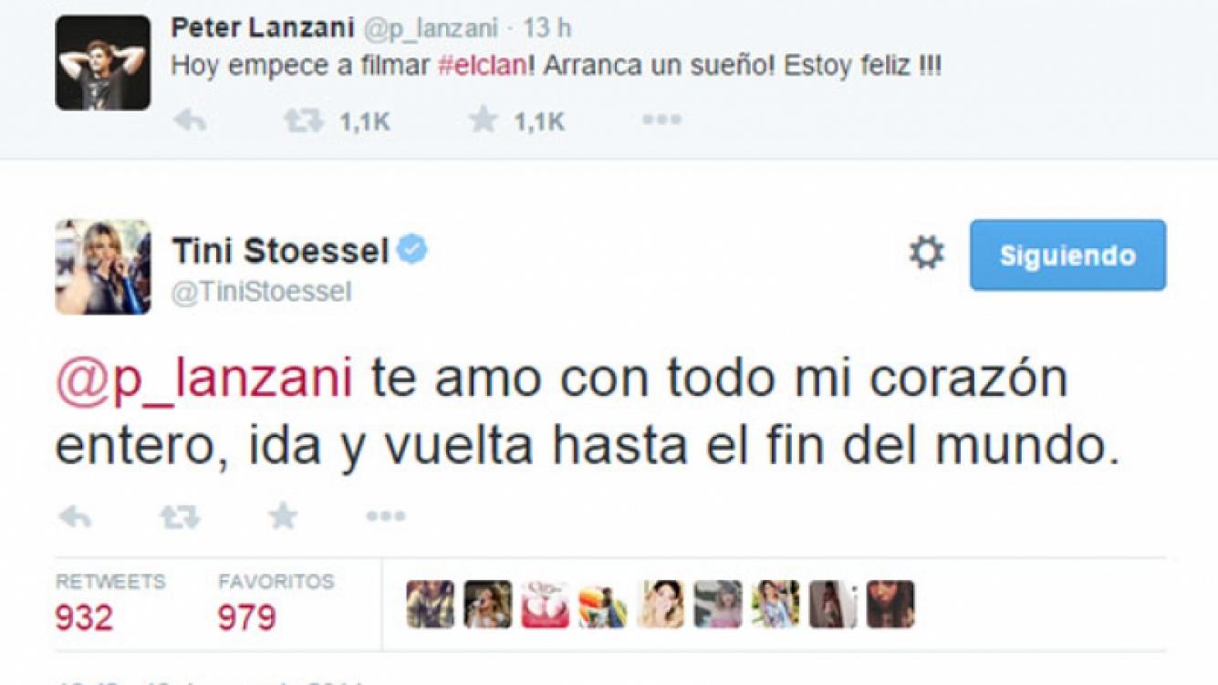 Martina Stoessel, súper enamorada de Peter Lanzani en Twitter (Fotos: Web).