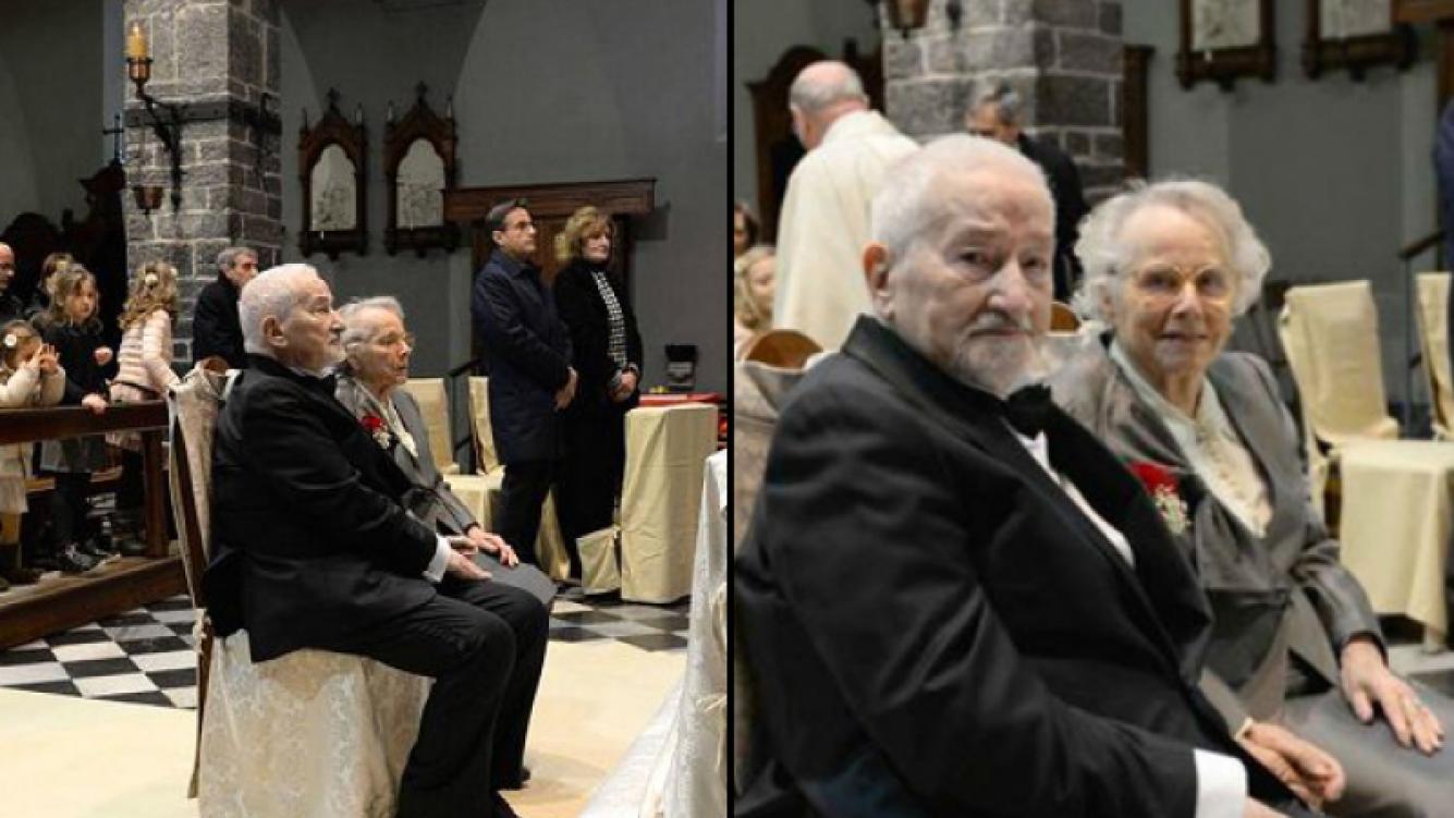 Antonia Gottifredi y Giovanni Molinari el día de su boda. (Foto: web)