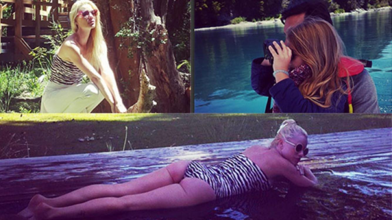 Nicole Neumann y las postales de sus vacaciones en Villa La Angostura (Fotos: Instagram).