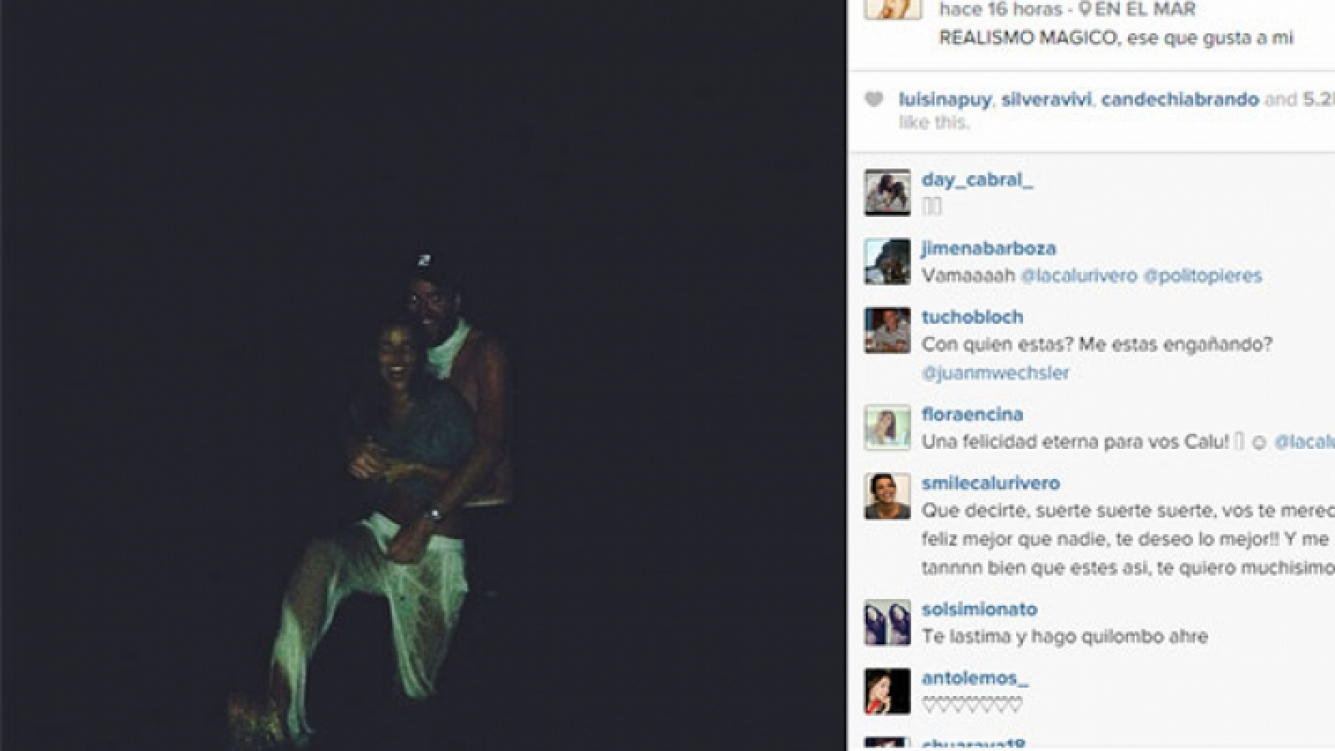 Calu Rivero y Polito Pieres, enamorados en Punta del Este (Foto: Instagram).
