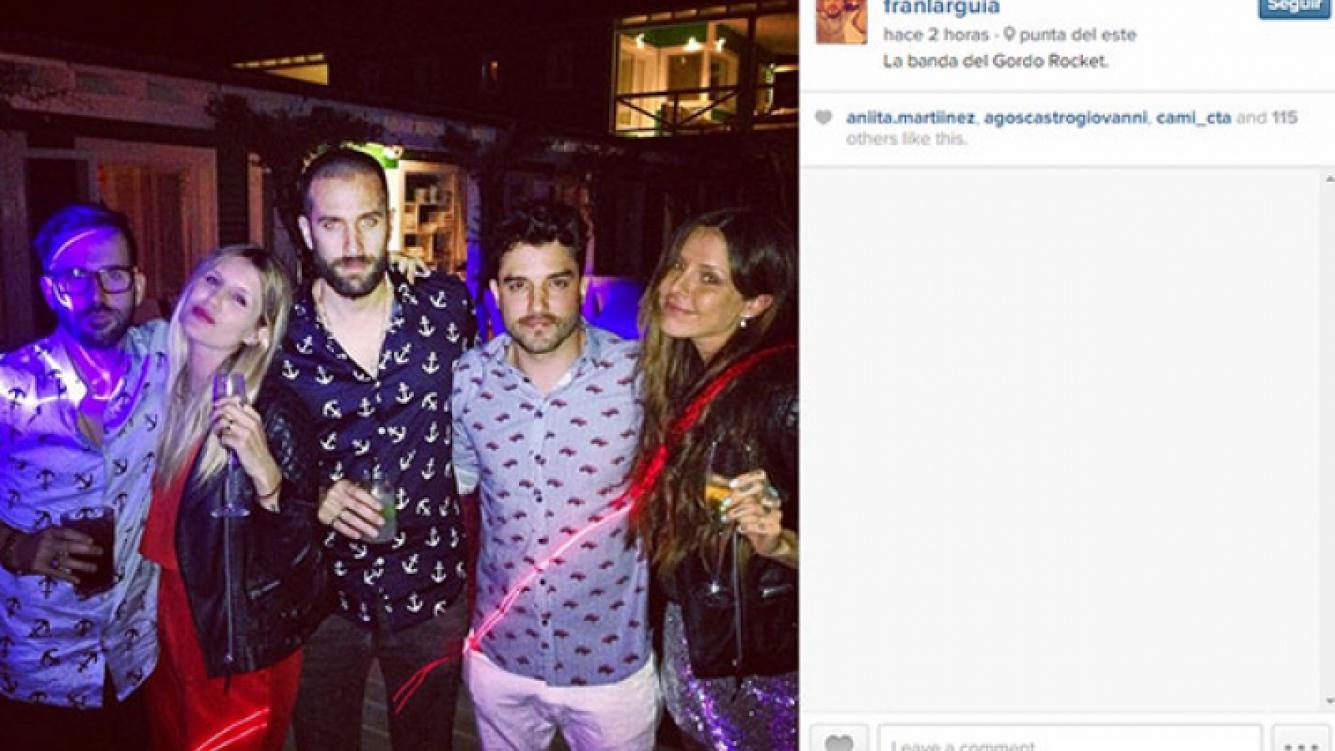 Candelaria Tinelli (der) junto a Lecouna (izq), Micaela, Tutti Diez y Fran Larguía (Foto: Instagram).