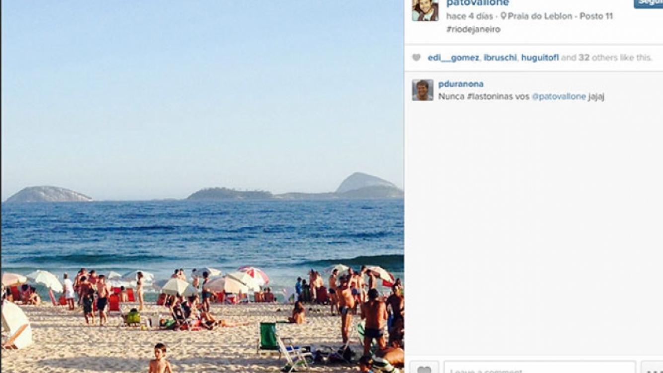 Las divertidas vacaciones del Chino Darín en Río de Janeiro (Fotos: Instagram).