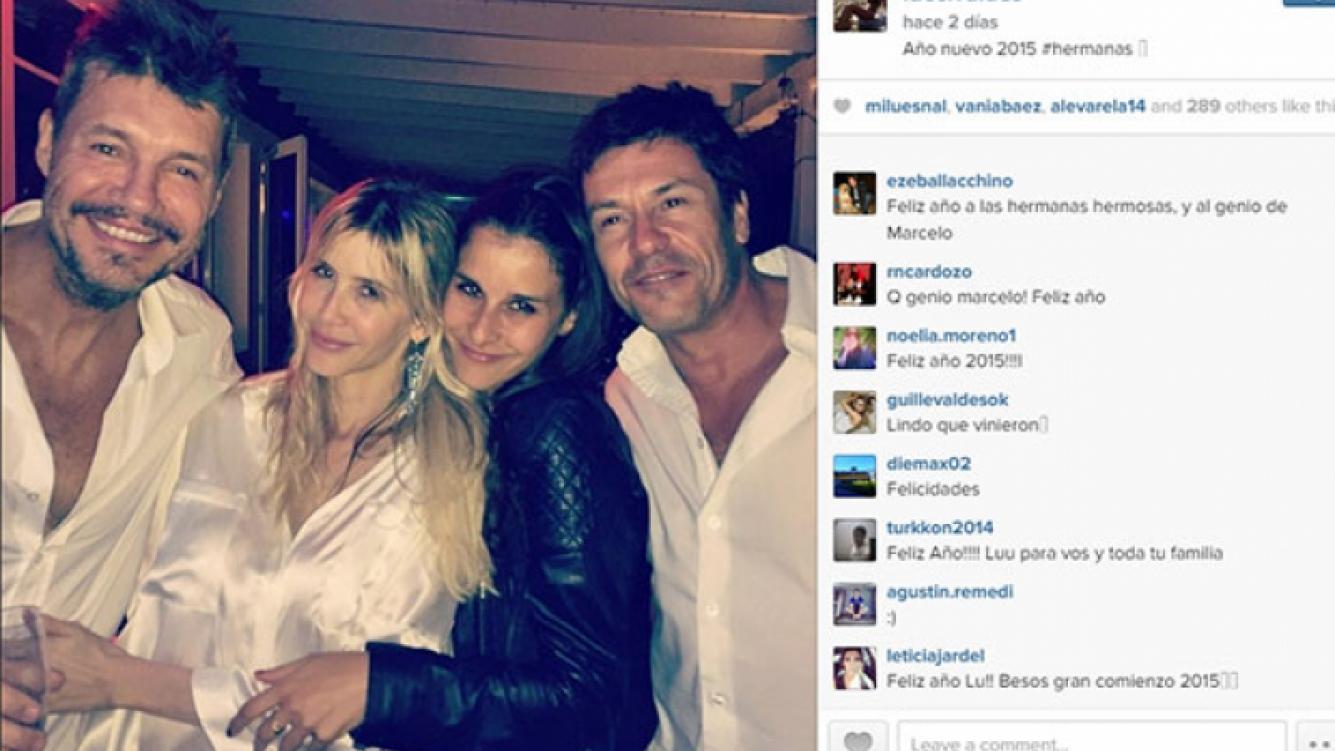 Lucía junto a Guillermina, Marcelo y su novio Aníbal en Año Nuevo (Foto: Instagram).
