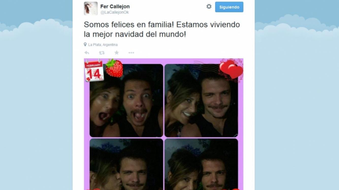 Los sugestivos tweets de María Fernanda Callejón y su marido.