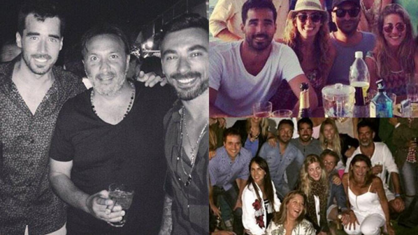 Nacho Viale celebró con todo su cumpleaños (Fotos: Web).