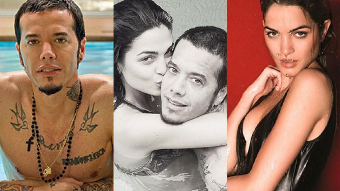 Sebastián Ortega y Carla Moure, enamorados en la pile (Fotos: Web e Instagram).