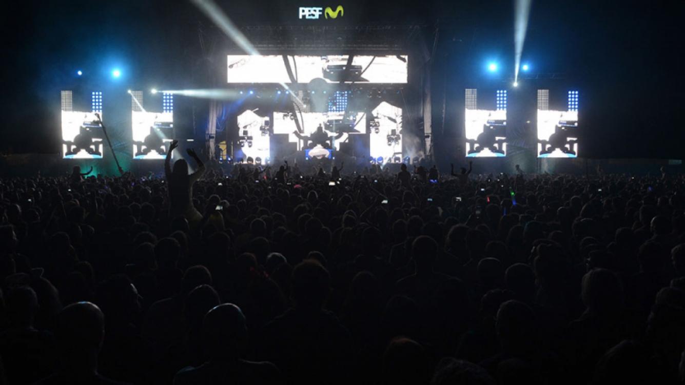 Noche de celebrities en el show de David Guetta en Punta del Este. (Foto: prensa Movistar)
