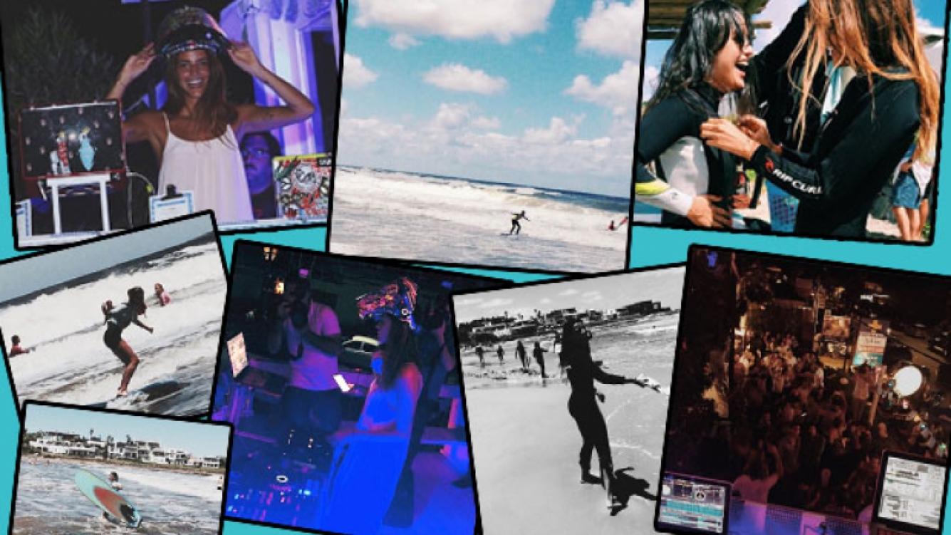 Calu Rivero, una chica multifacética en el Este: DJ de noche, surfista de día. (Foto: Instagram)