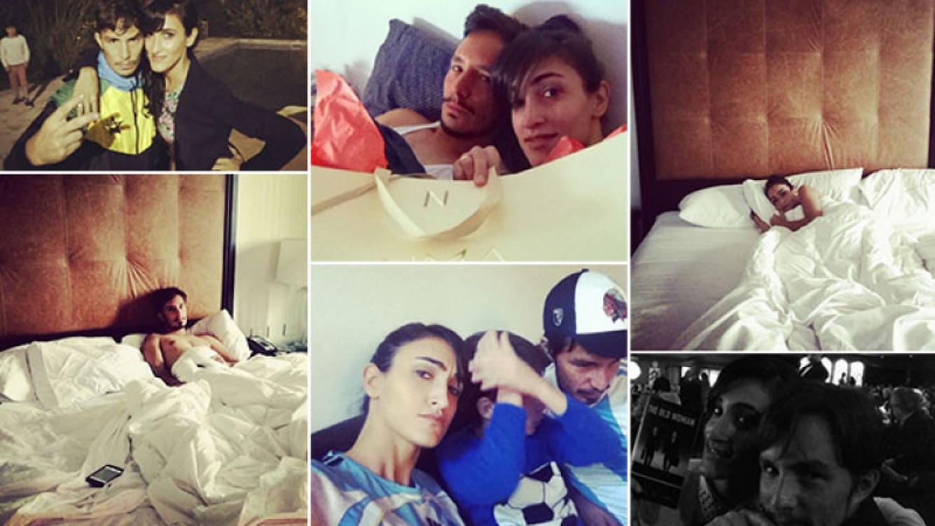 Emmanuel Horvilleur y las fotos de entrecasa con su bella novia bailarina. (Foto: Instagram)