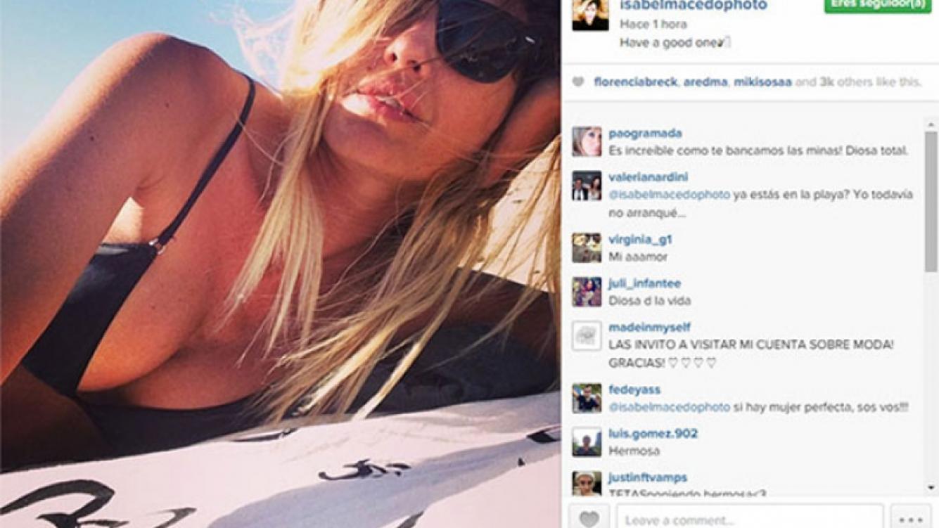 Isabel Macedo y una selfie playera a pura provocación. (Foto: Instagram)