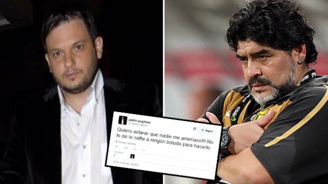 Pablo Pugliese y un tweet sin filtro para Diego Maradona. (Foto: Web)