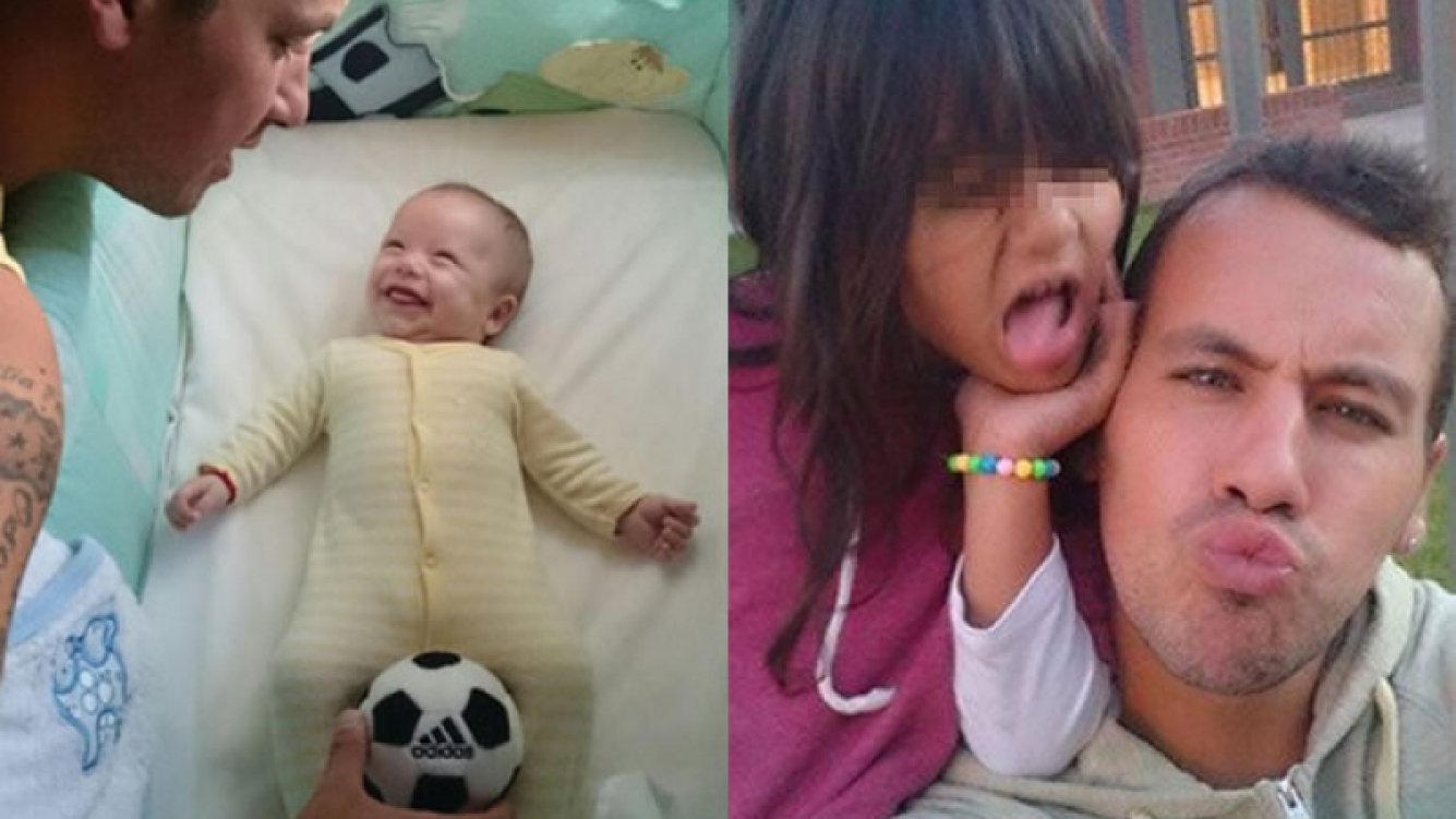 El Ogro Fabbiani se divierte con sus hijos, Santino y Uma. (Fotos: Twitter)