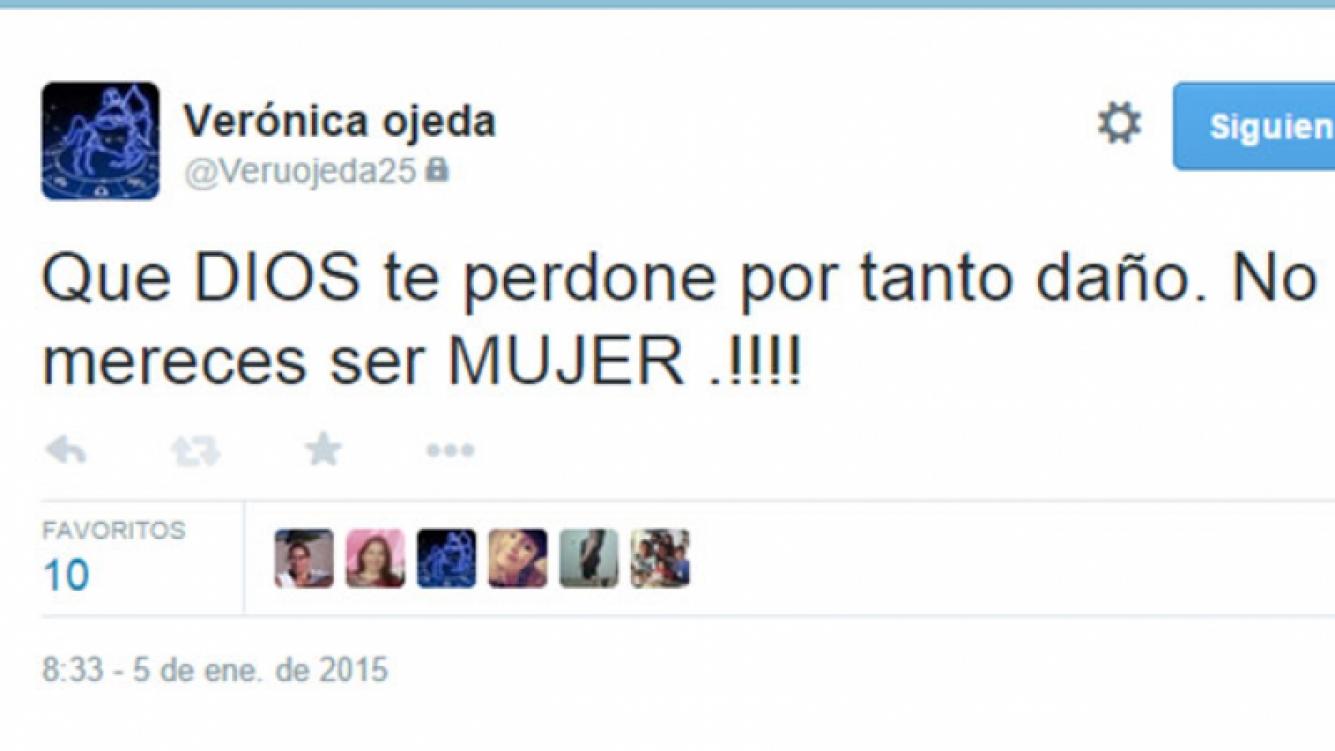 Verónica Ojeda también le respondió en la red social (Foto: Captura).