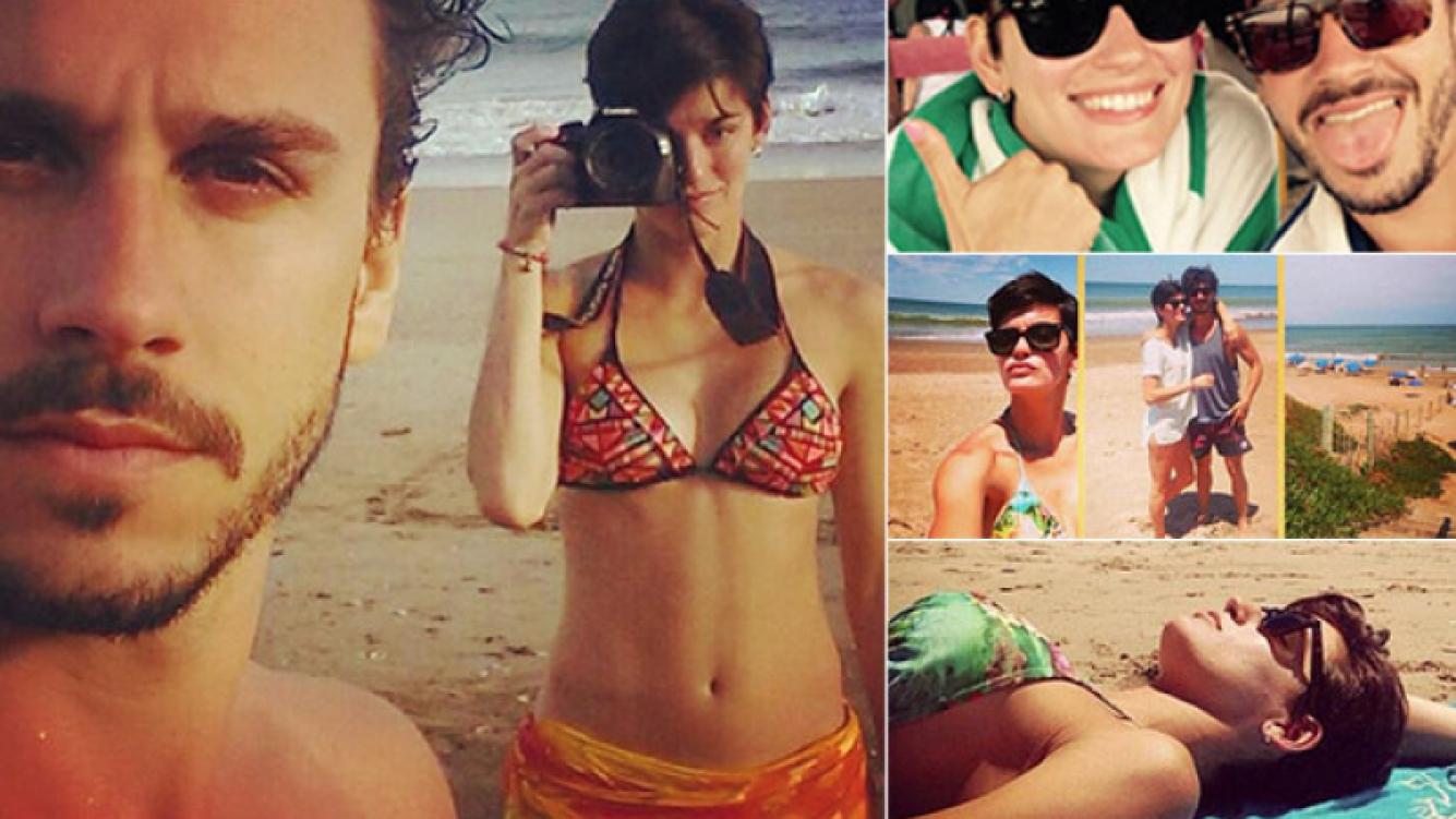 Florencia Viterbo, una morocha en bikini en Mar del Plata: amor, playa y deporte con su novio (Foto: Twitter)