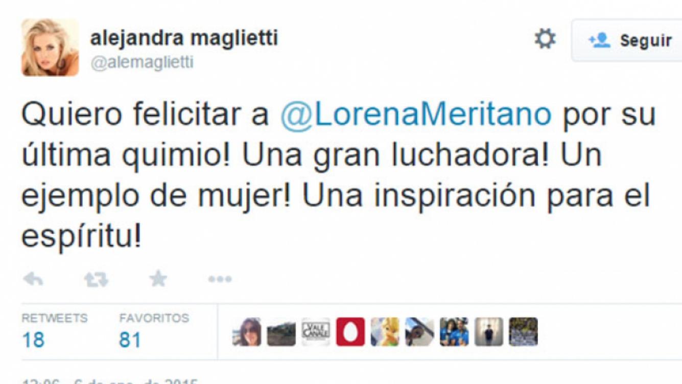 Lorena Meritano celebró en Twitter, su última sesión de quimio. (Fotos: Twitter)