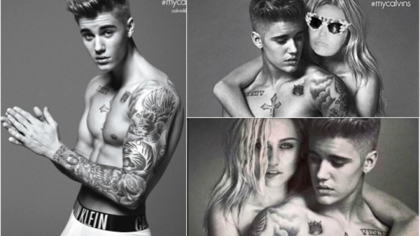 Miley y Justin, unidos por el photoshop en la campaña de Clavin Klein. (Foto: Web)