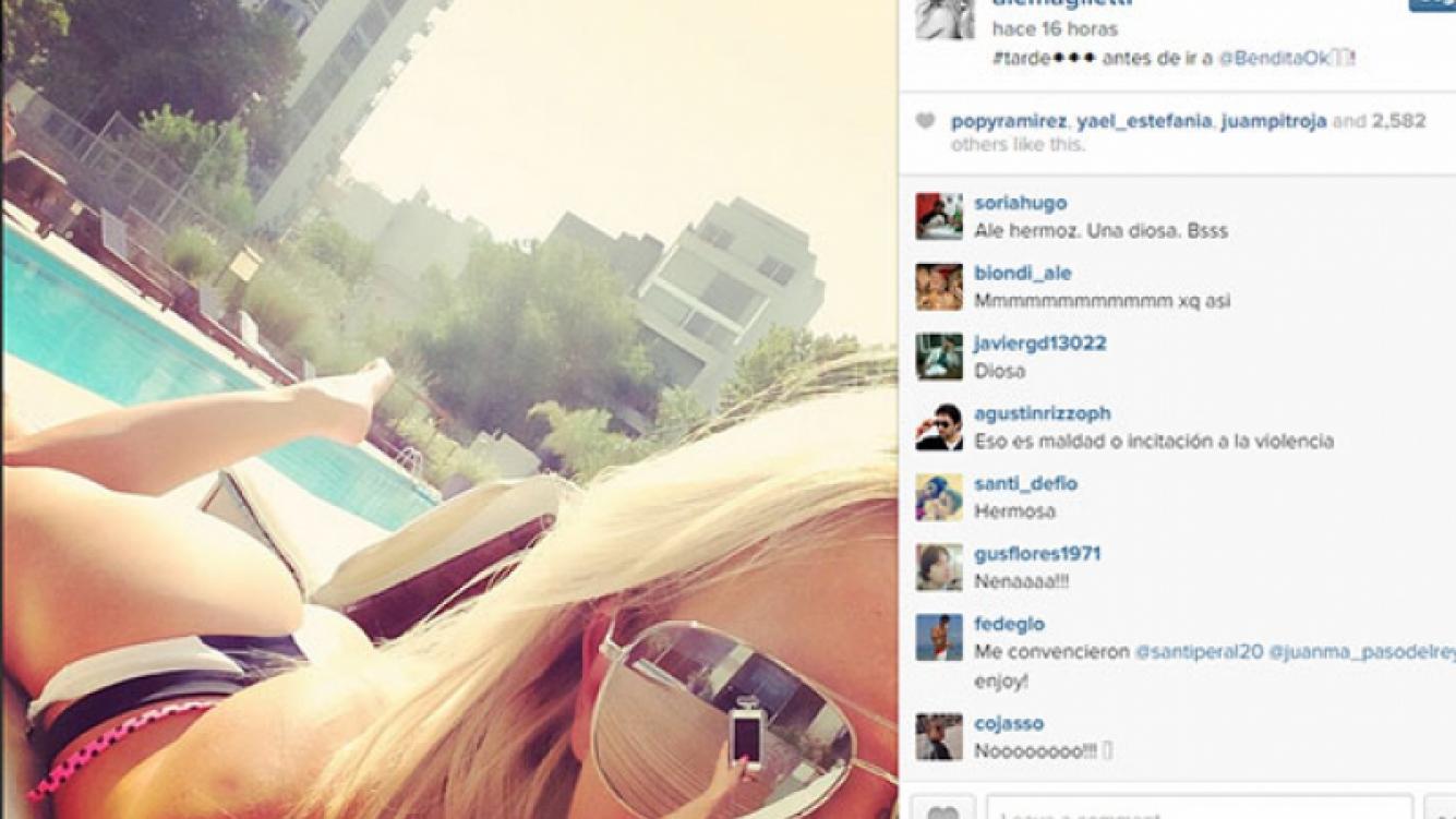 Alejandra Maglietti, diosa 2.0: su selfie que despertó suspiros en Instagram (Foto: Captura).