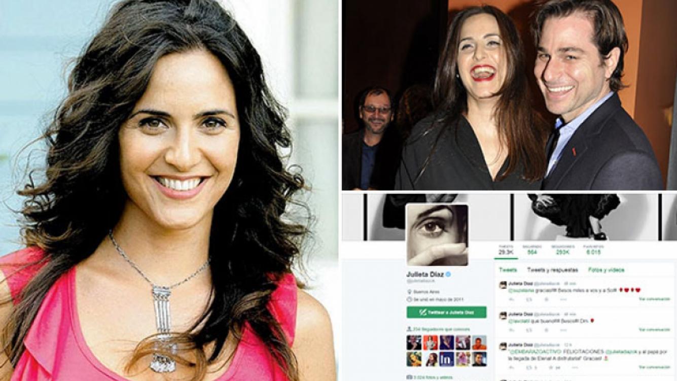 Julieta Díaz y su emotivo mensaje, tras el alta a su beba. (Foto: Web y archivo Ciudad.com)