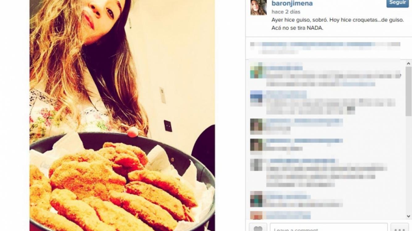 Jimena Barón y sus croquetas... ¡de guiso! (Fotos: Instagram)