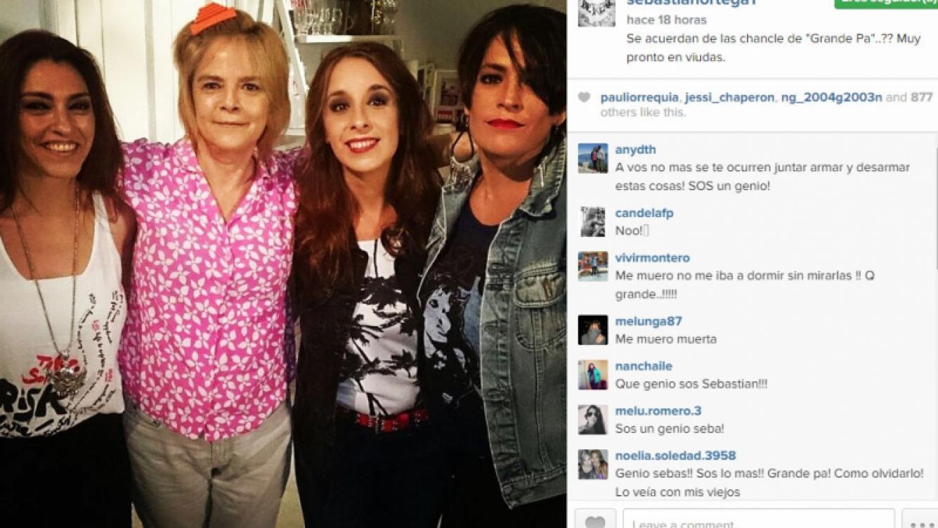"""Llegan """"Las chancles"""" a Viudas: María Leal se reencontró en escena con Nancy Anka, Julieta Fazzari y Gabriela Allegue (Foto: Instagram)"""