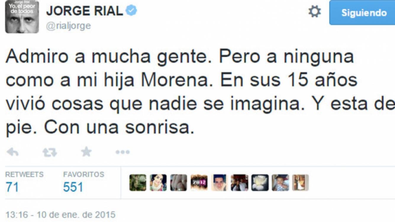 Jorge Rial abrió su corazón en Twitter: