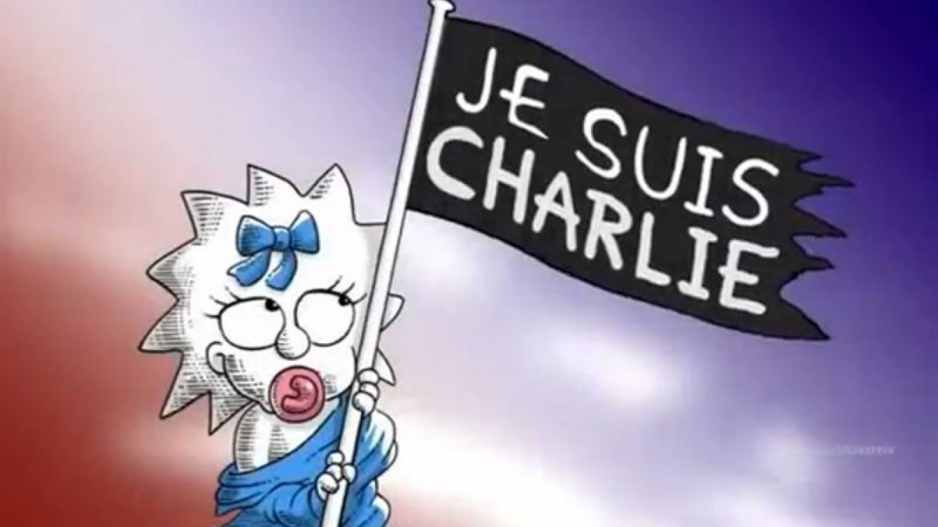 El homenaje de Los Simpsons a los periodistas de Charlie Hebdo.