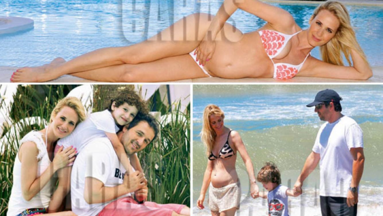 Julieta Prandi está embarazada de tres meses. (Fotos: revista Caras)
