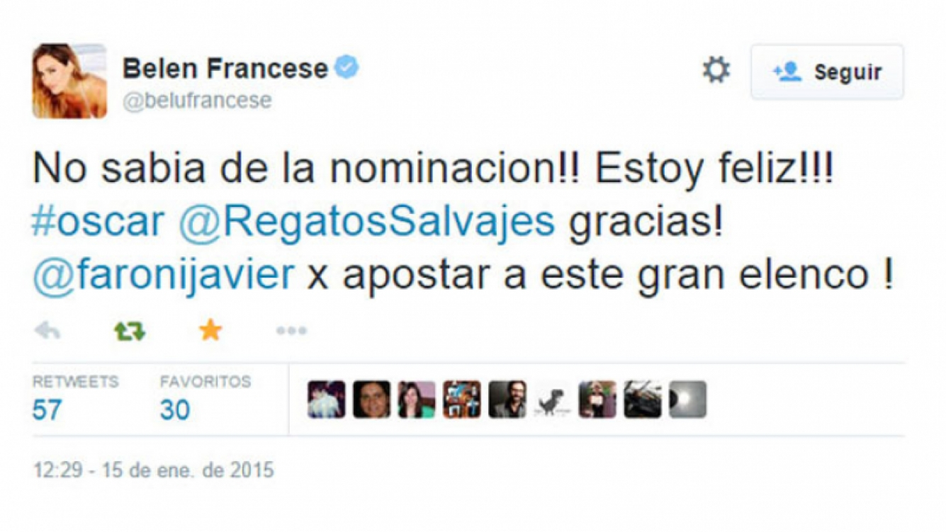 El tweet de Belén Francese que desató las risas entre sus seguidores. (Foto: Twitter)