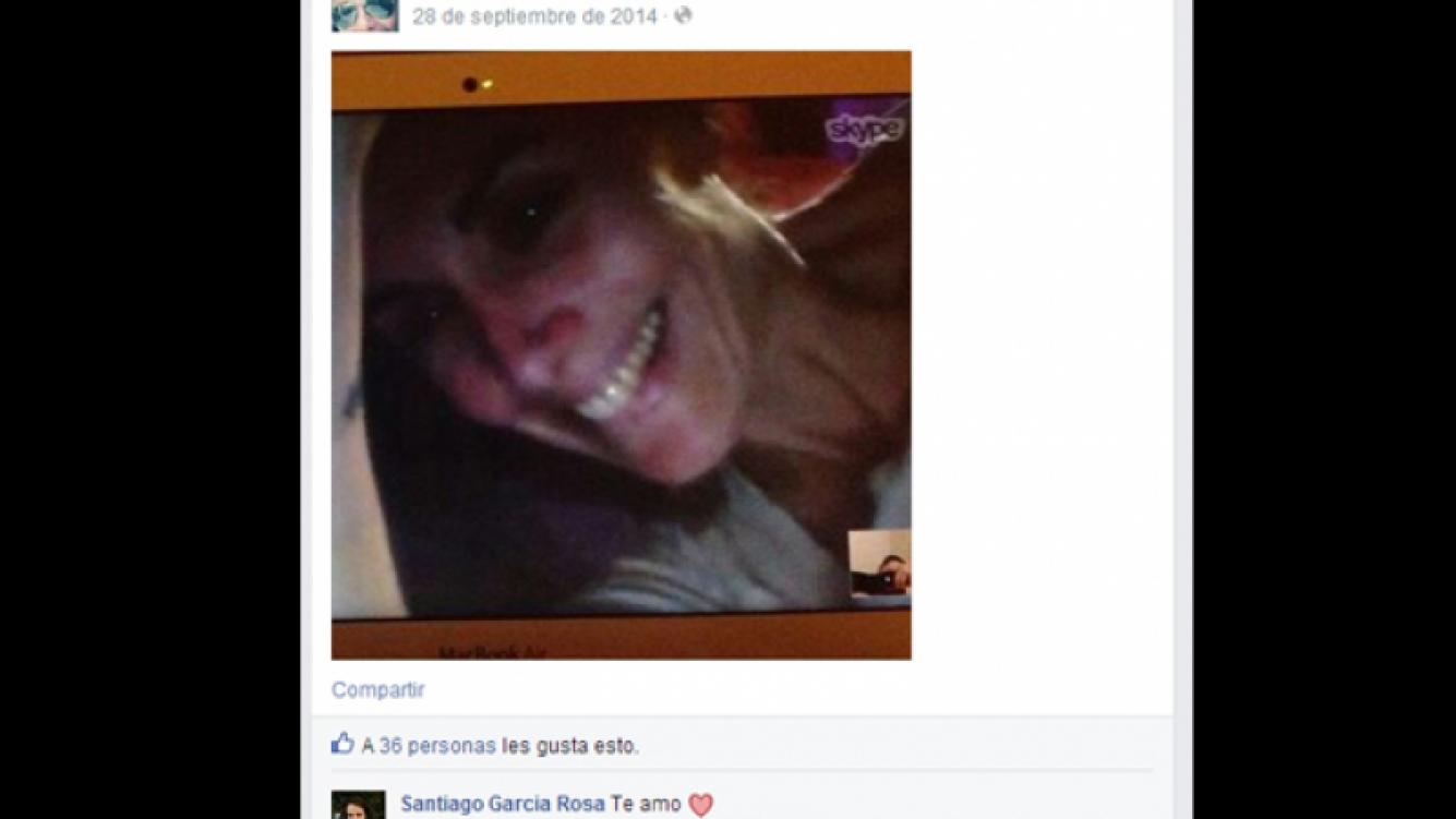 Viviana Saccone y Santiago García Rosa blanquearon su amor en las redes sociales (Foto: Facebook)