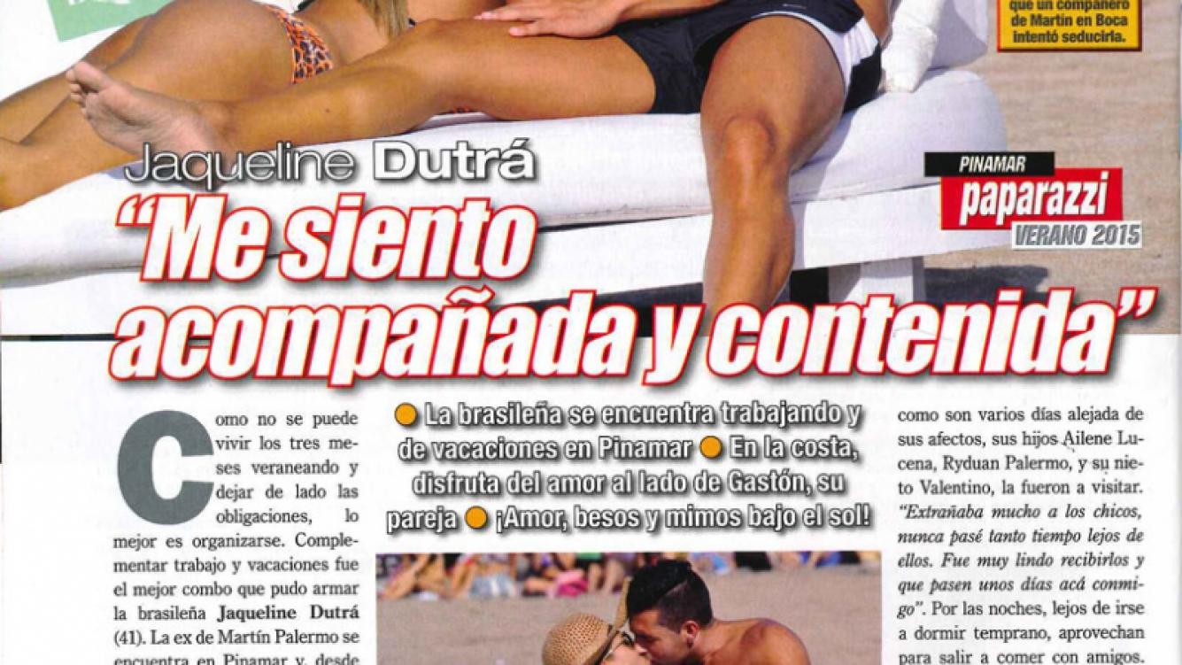 Jaqueline Dutra y Gaston Costi, enamorados en Pinamar. (Foto: Revista Paparazzi)