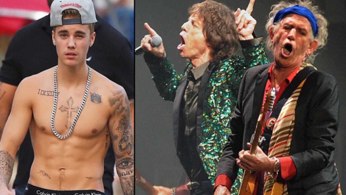 La pelea de Justin Bieber y Keith Richards. (Fuente: web)
