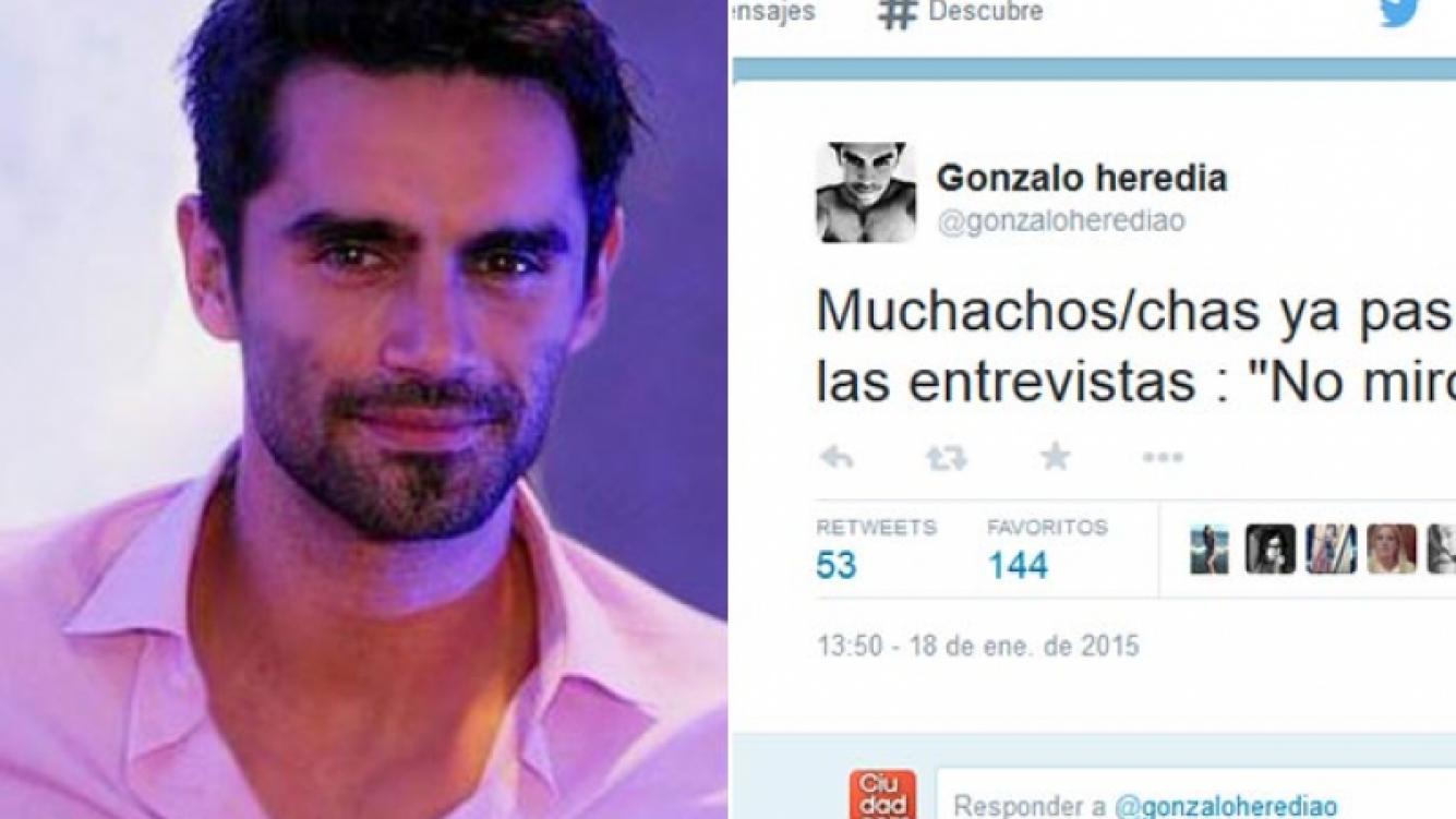 El punzante tweet de Gonzalo Heredia. (Fotos: Web y Twitter)