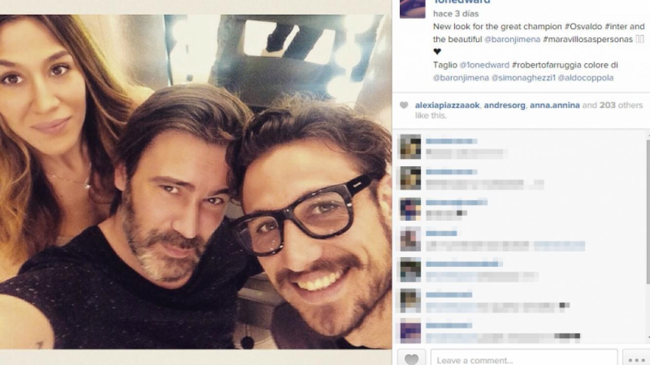 ¡Se despidió del rodete! El nuevo look del novio de Jimena Barrón (Foto: Instagram)