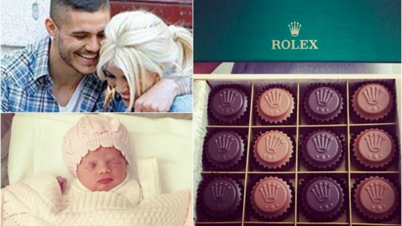 Bombones de Rolex, el lujosísimo regalo del representante de Icardi. (Foto: Twitter)