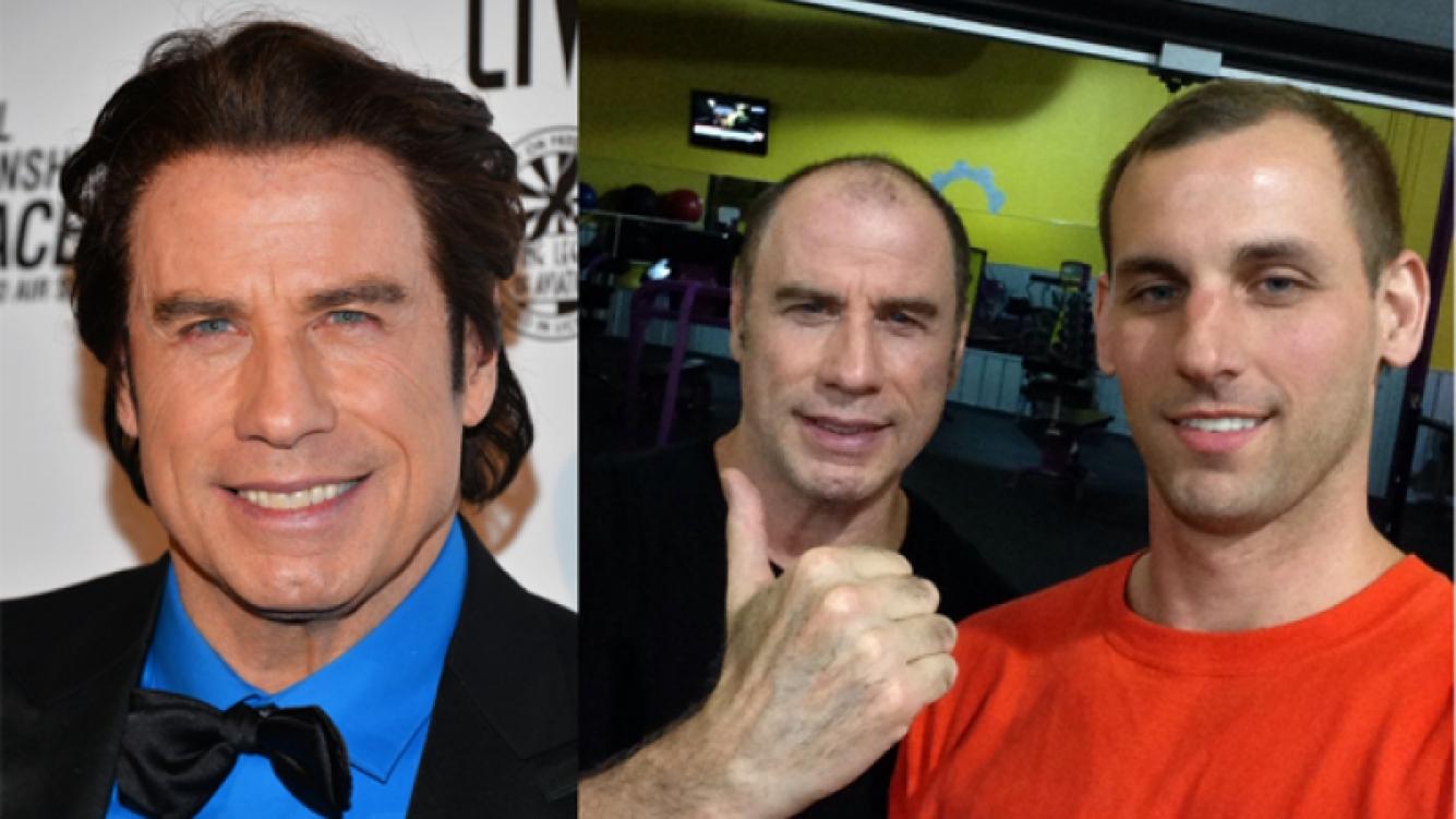 John Travolta y su cabellera al natural. (Fuente: Reddit)