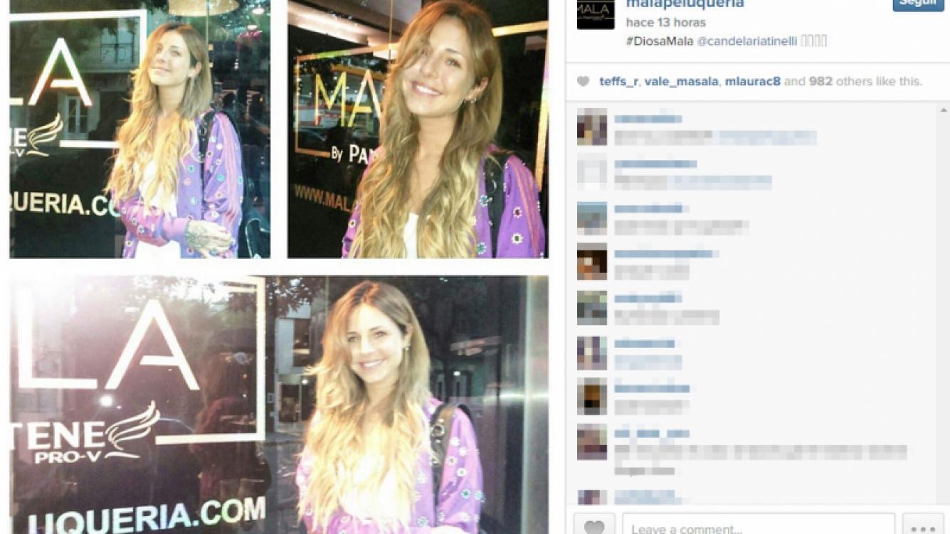 ¡Una blonda más en la familia Tinelli! Candelaria cambió su color de pelo (Foto: Instagram)