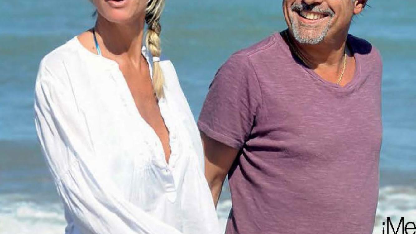 Guillermo Francella y Marynés, 24 años de amor con vista al mar. (Foto: Gente)