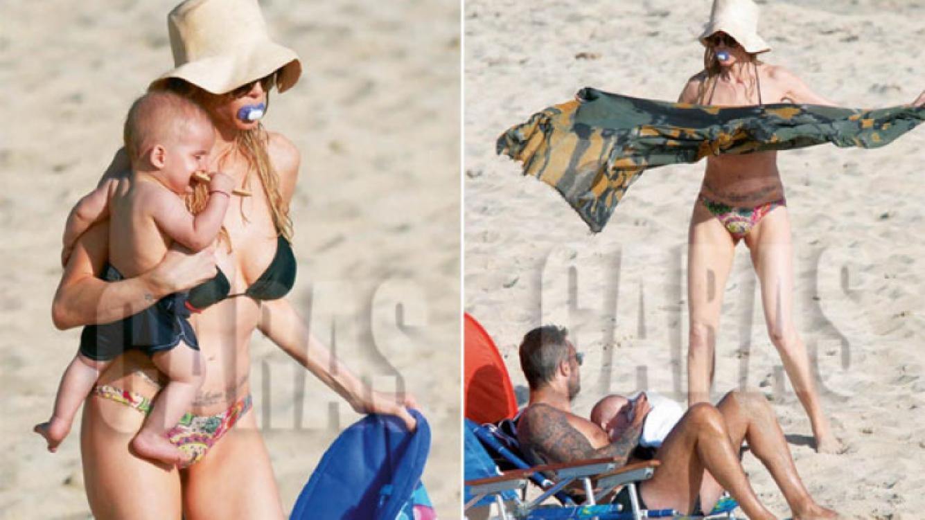 Guillermina Valdés, enojada por las fotos con el chupete de Lolo en su boca. (Foto: revista Caras)