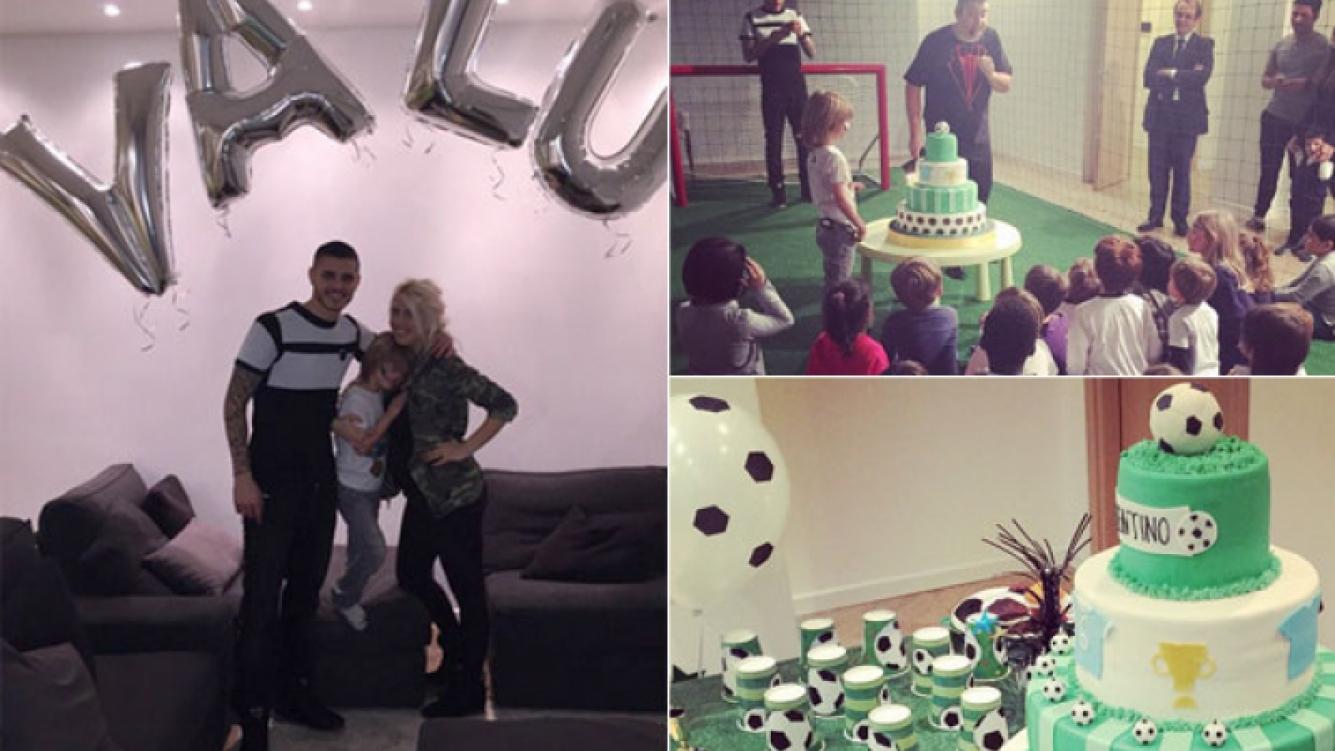 ¡Con espíritu futbolero! Wanda Nara y Mauro Icardi le celebraron el cumpleaños Valentino (Foto: Instagram)