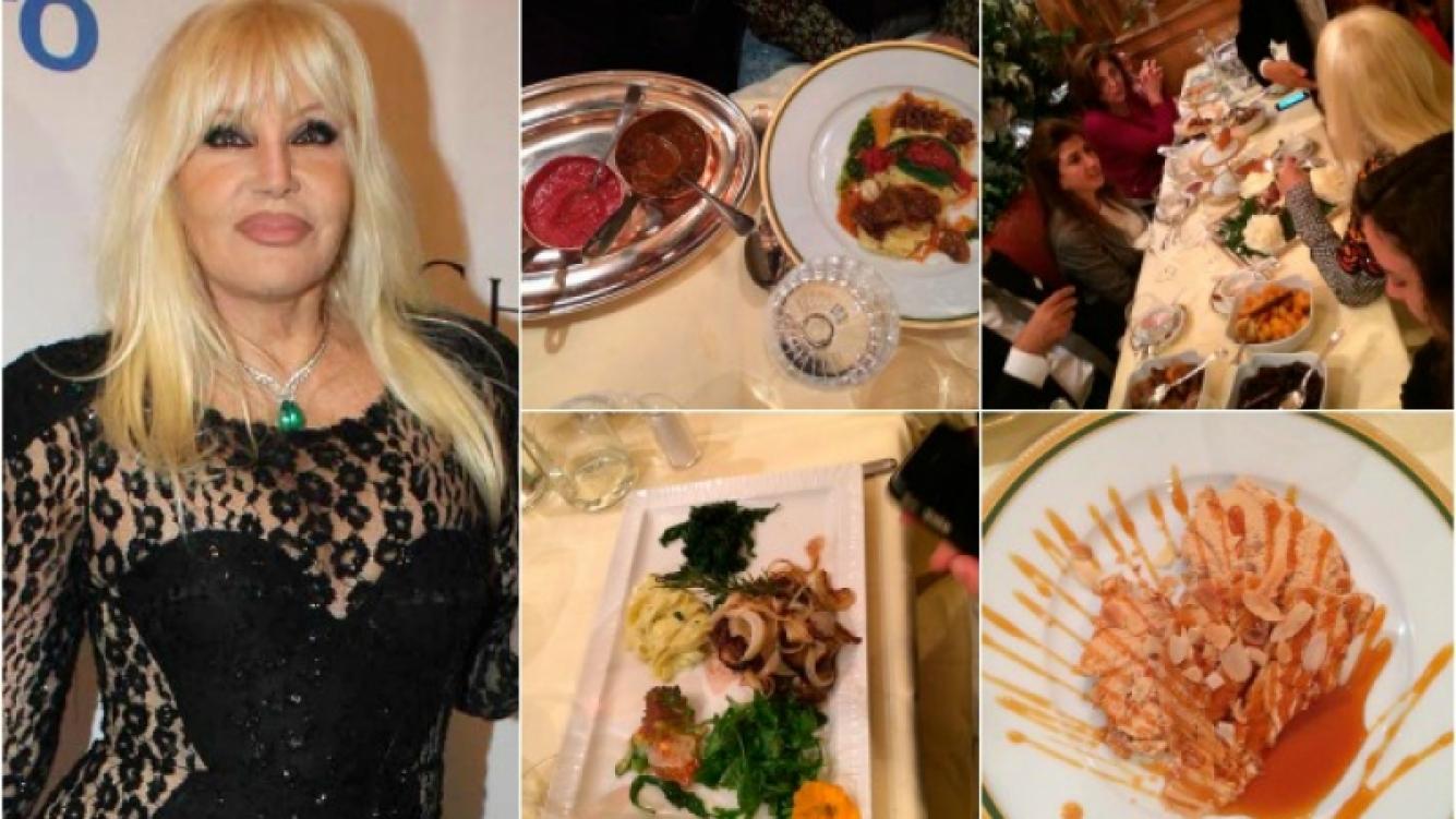 Susana y Marley disfrutaron en un restaurante italiano de múltiples manjares. (Foto: Twitter)