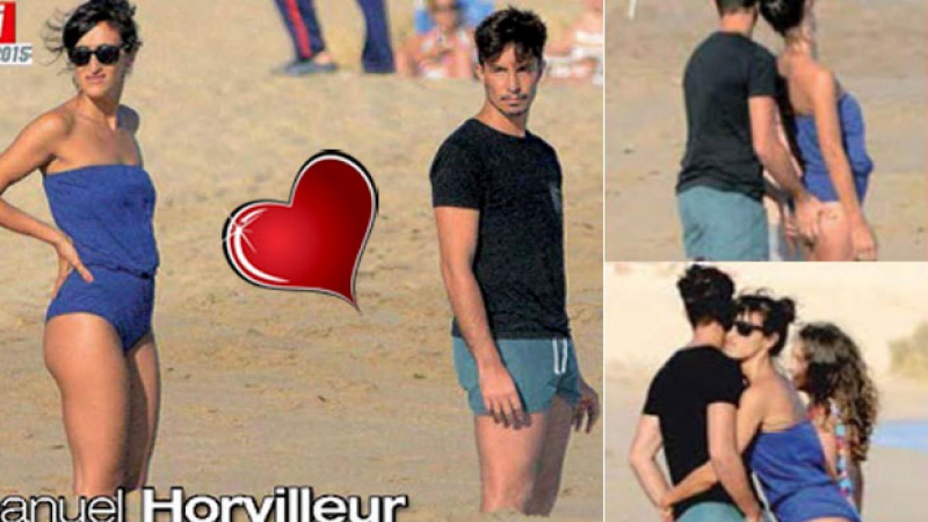 Emanuel Horvilleur: look playero y ¡manito indiscreta! con su novia. (Foto: Paparazzi)