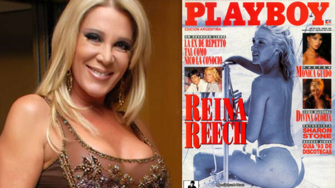 Reina Reech y la tapa de Playboy realizada en 1993. (Foto: web)